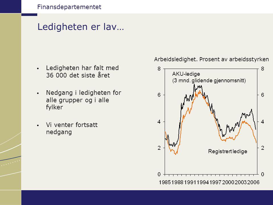 Finansdepartementet Nytt kapitaldekningsregelverk (Basel II) Nye lovregler vedtatt i juni 2006 Bygger på nye retningslinjer fra Baselkomitéen og endringer i EU-direktiver Modernisering av det eksisterende rammeverket for beregning av kapitaldekningskrav Kapitalkravet skal samsvare bedre med risikoen Forskrifter vil bli fastsatt i høst