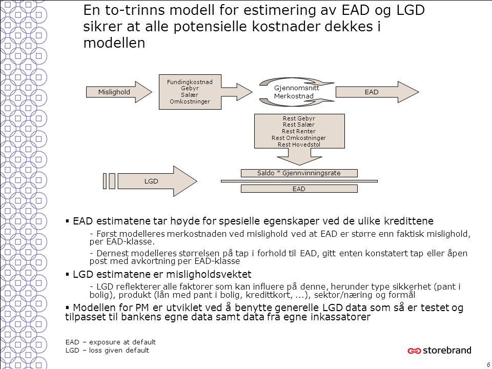 7  Simuleringsmodeller: - Makromodeller: Modellbasert Monte Carlo simulering for hver risk faktor  Pris-/kontantstrøm-modeller - Simulering av forventet kontantstrøm på prosjektet  Ekspertmodell: - Ekspertmodeller utvikles ved en strukturert informasjonsinnhentning fra saksbehandlere - Ekspertmodellen vil være en operasjonalisering og strukturering av eksisterende beslutningsprosesser Makro modell Ekspert modell Kontantstrøm simulering Modell for konv.