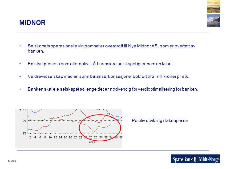 Side 8 MIDNOR Selskapets operasjonelle virksomhet er overdratt til Nye Midnor AS, som er overtatt av banken. En styrt prosess som alternativ til å fin