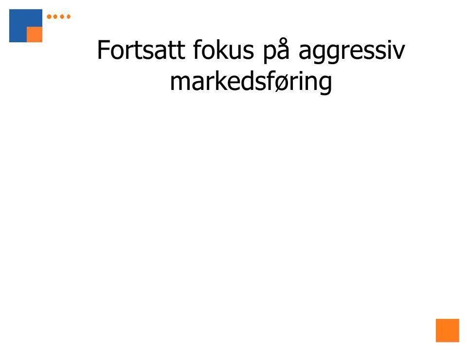 Fortsatt fokus på aggressiv markedsføring