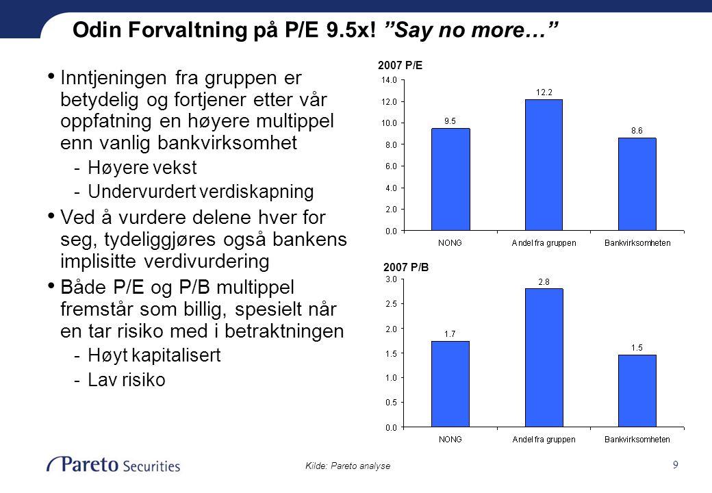10 Tidenes svenskehandel Kilde: Company data NOK mrd * * Prising ved Swedbanks salg av sin eierandel (19.5%) 23/6 2006