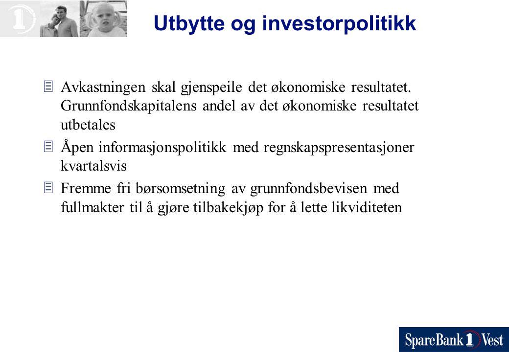 Utbytte og investorpolitikk 3Avkastningen skal gjenspeile det økonomiske resultatet.