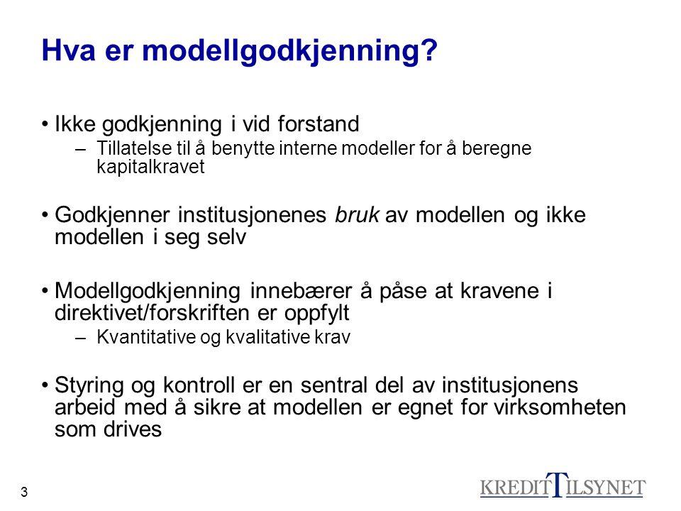 3 Hva er modellgodkjenning.
