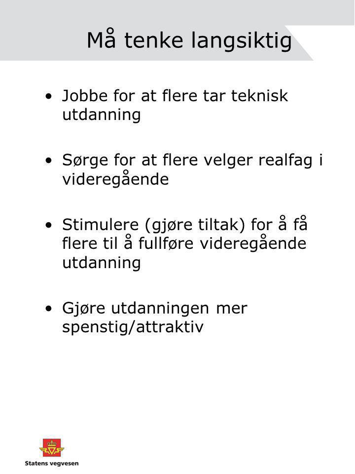 BA - bransjen Tenk Nordkalotten / tenk Barents / tenk NORD I alle fall kommer Statens vegvesen til å gjøre det!