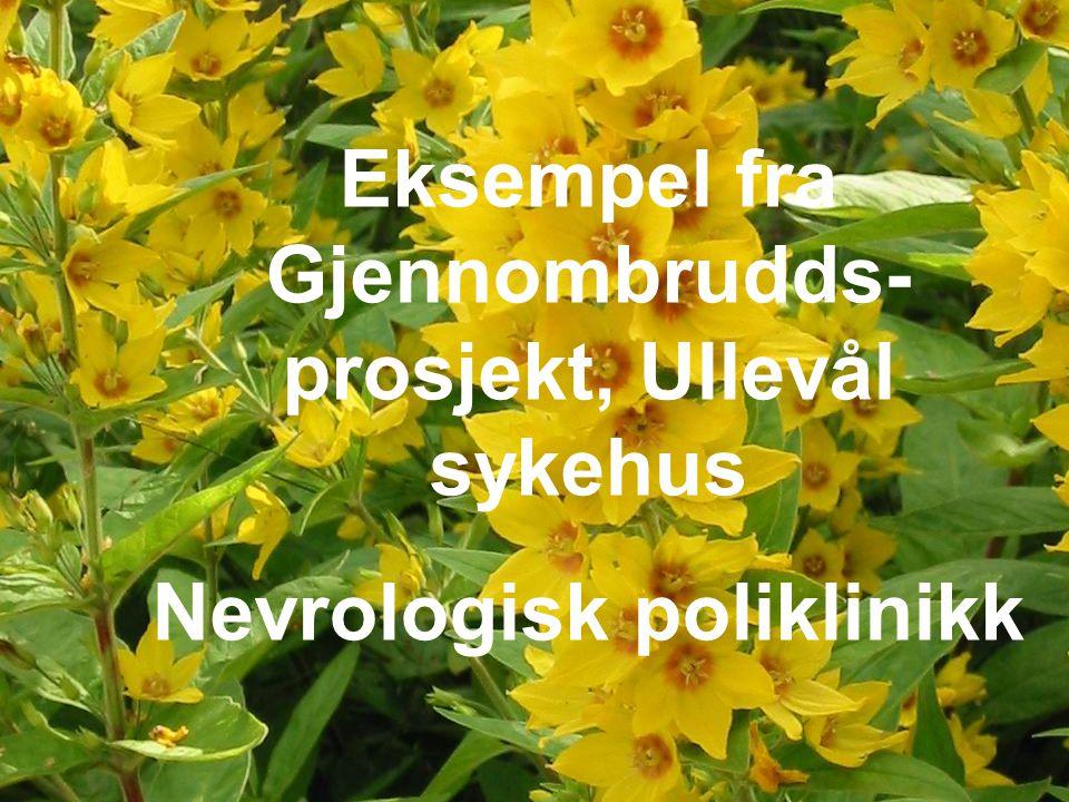 34 Eksempel fra Gjennombrudds- prosjekt, Ullevål sykehus Nevrologisk poliklinikk