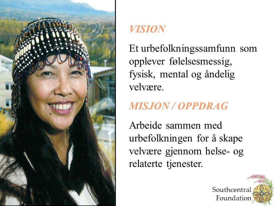 VISION Et urbefolkningssamfunn som opplever følelsesmessig, fysisk, mental og åndelig velvære. MISJON / OPPDRAG Arbeide sammen med urbefolkningen for