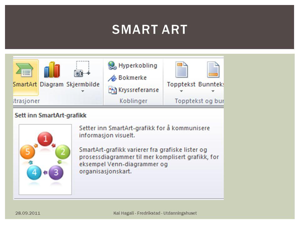 28.09.2011Kai Hagali - Fredrikstad - Utdanningshuset SMART ART