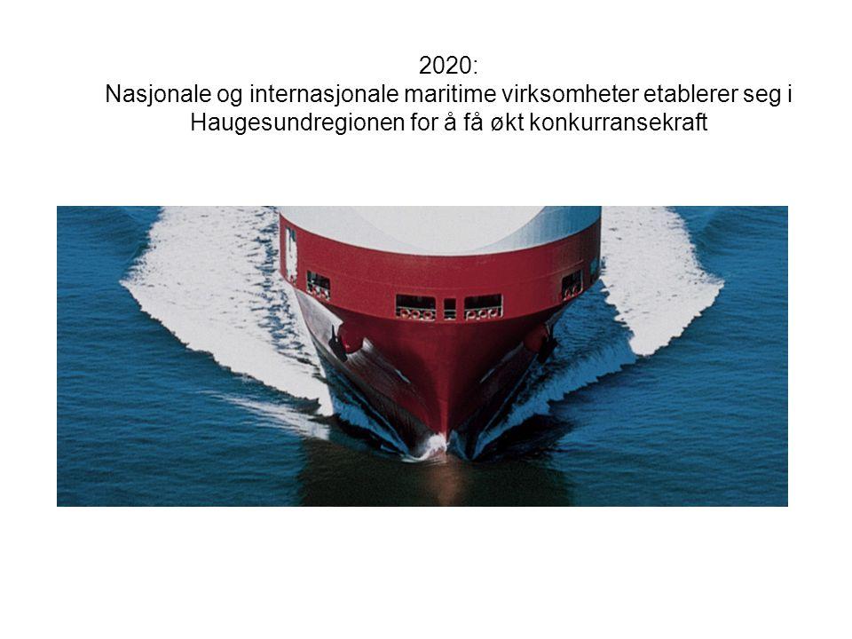 2020: Nasjonale og internasjonale maritime virksomheter etablerer seg i Haugesundregionen for å få økt konkurransekraft