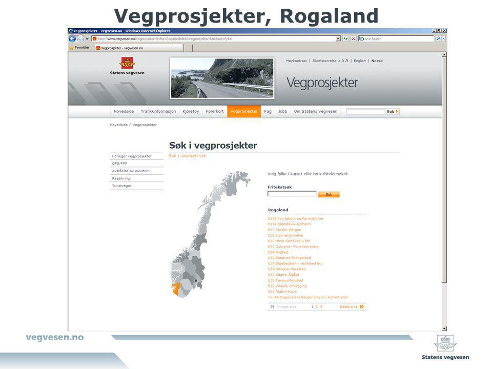 Vegprosjekter, Rogaland