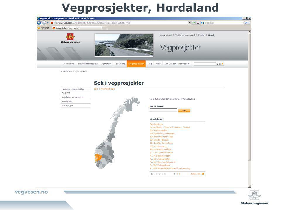 Vegprosjekter, Hordaland
