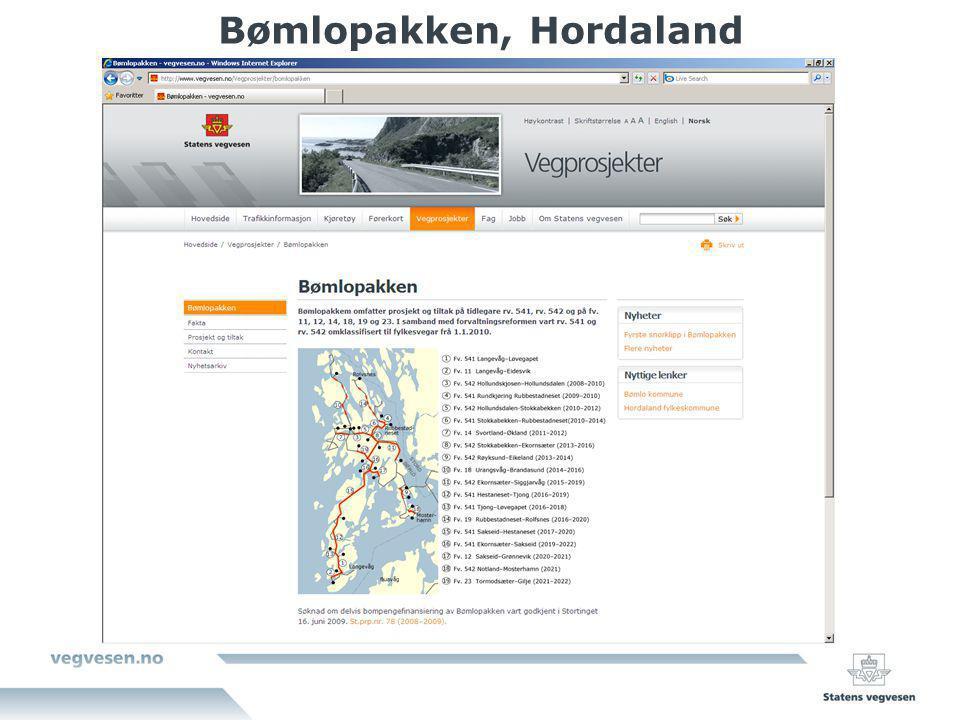 Bømlopakken, Hordaland