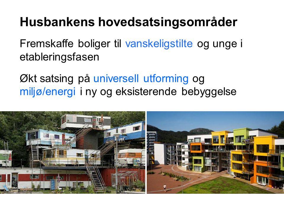 14. jul. 2014 5 Husbankens hovedsatsingsområder Fremskaffe boliger til vanskeligstilte og unge i etableringsfasen Økt satsing på universell utforming