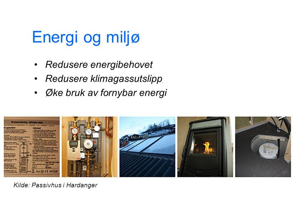 Energi og miljø 14. jul. 2014 9 Redusere energibehovet Redusere klimagassutslipp Øke bruk av fornybar energi Kilde: Passivhus i Hardanger