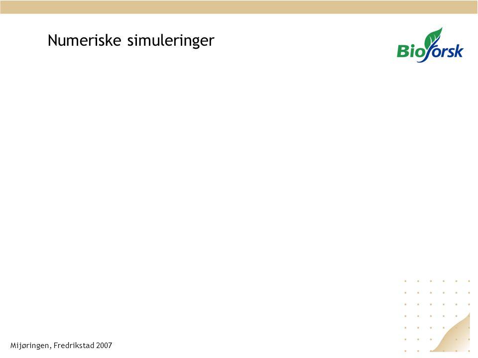 Numeriske simuleringer Mijøringen, Fredrikstad 2007
