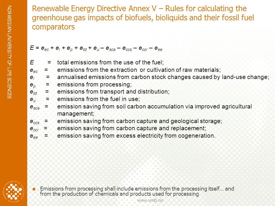 NORWEGIAN UNIVERSITY OF LIFE SCIENCES www.umb.no Behov for data – LCA og biodrivstoff Database Emisjon biodiesel Enzymatisk hydrolyse Modell Systemgrenser Allokering ….