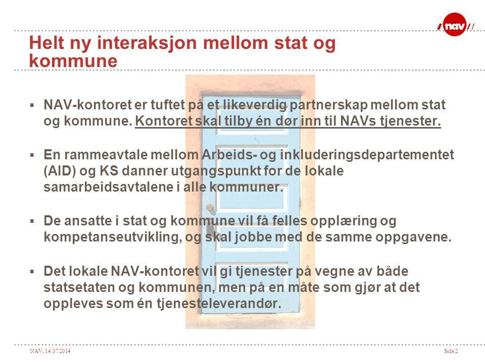 NAV, 14.07.2014Side 3 Etableringsløpene - vi er på plan 2006 2007 2008: 2009 178 NAV-kontor etablert pr.