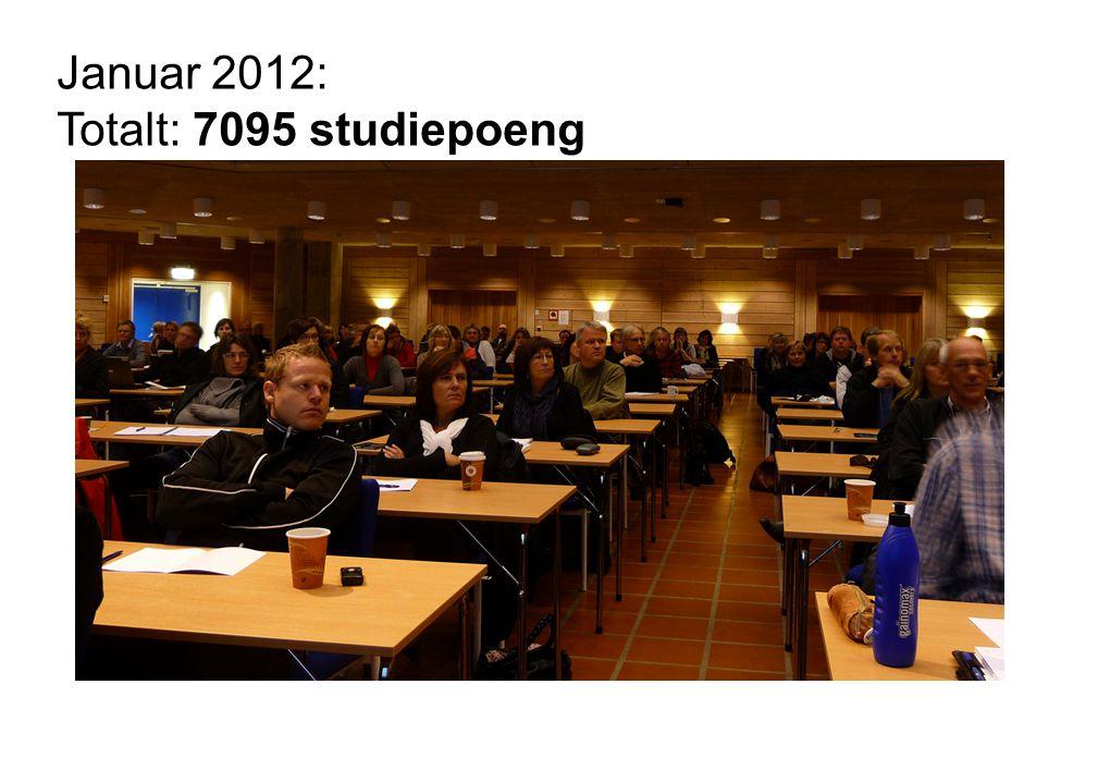 Januar 2012: Totalt: 7095 studiepoeng