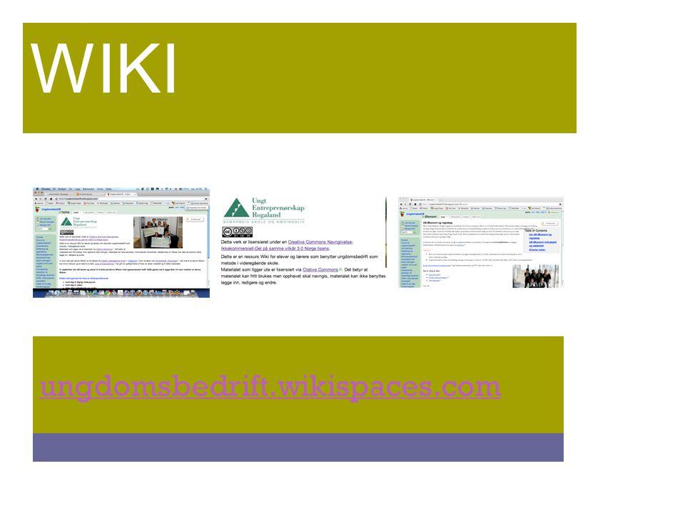 ungdomsbedrift.wikispaces.com WIKI