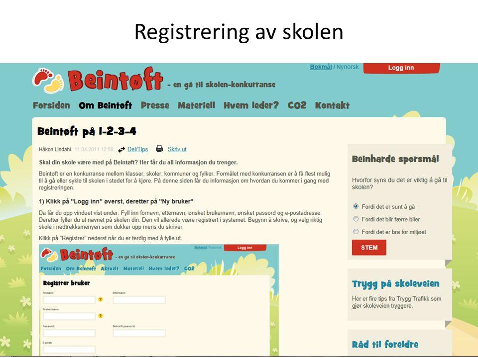 Registrering av skolen