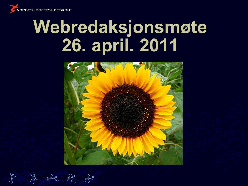 Webredaksjonsmøte 26. april. 2011