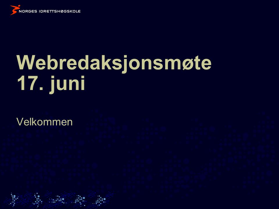 Agenda 1.Velkommen 2. Imagemap 3. ECSS- status 4.