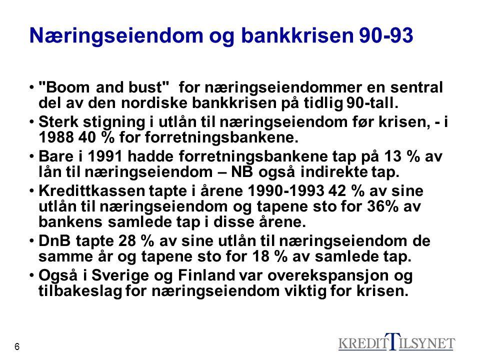 6 Næringseiendom og bankkrisen 90-93