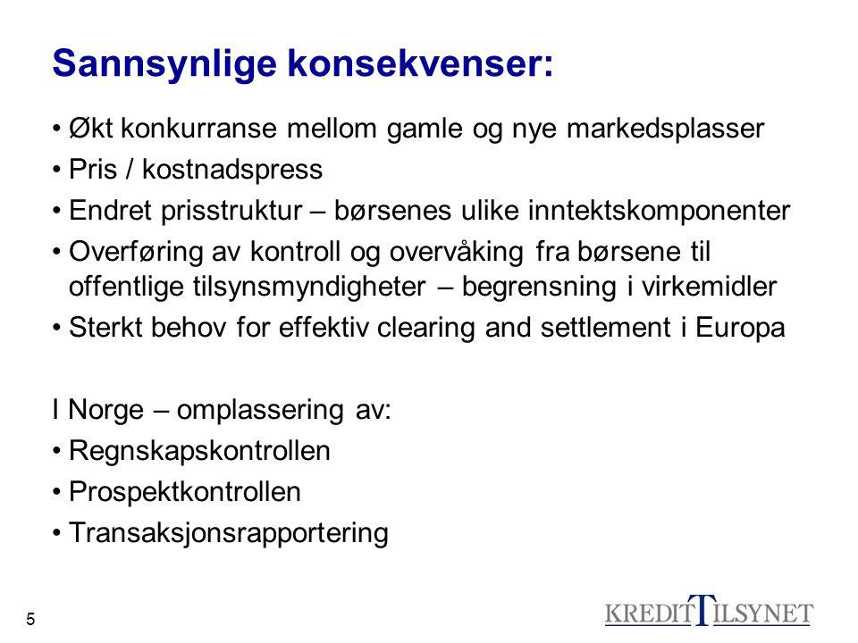26 Individuell rådgivning Kundekategorisering Testing av kunder Informasjon til kunder Beste utførelse Interessekonflikter Foretakenes plikter: - identifisere - håndtere - informere Investorbeskyttelse – forts.