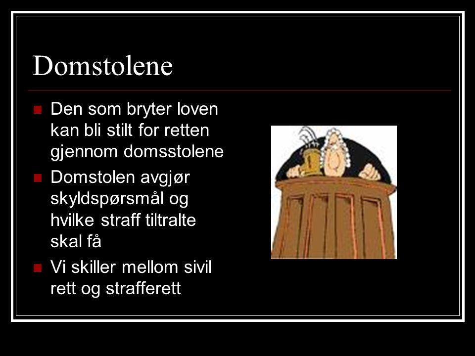 Sivil rett Høyesterett Lagmannsrett (anke) Tingrett (anke) Forliksrådet (anke)