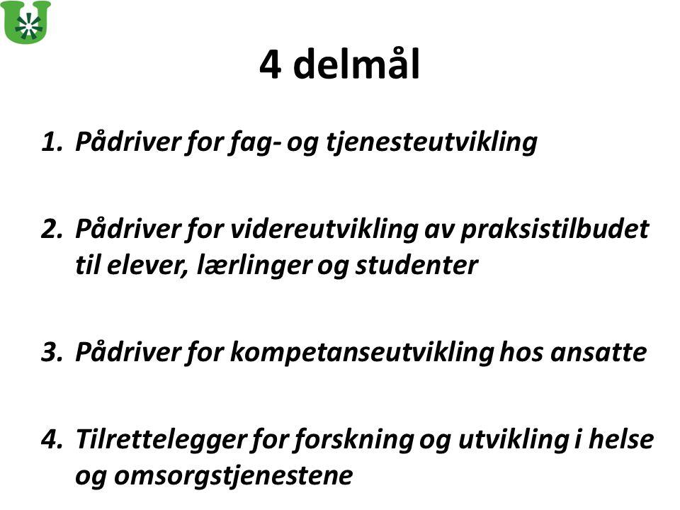 Pådriver for fag- og tjenesteutvikling: 2012: Læringsnettverk for alle Utviklingssentra for sykehjem i Norge.