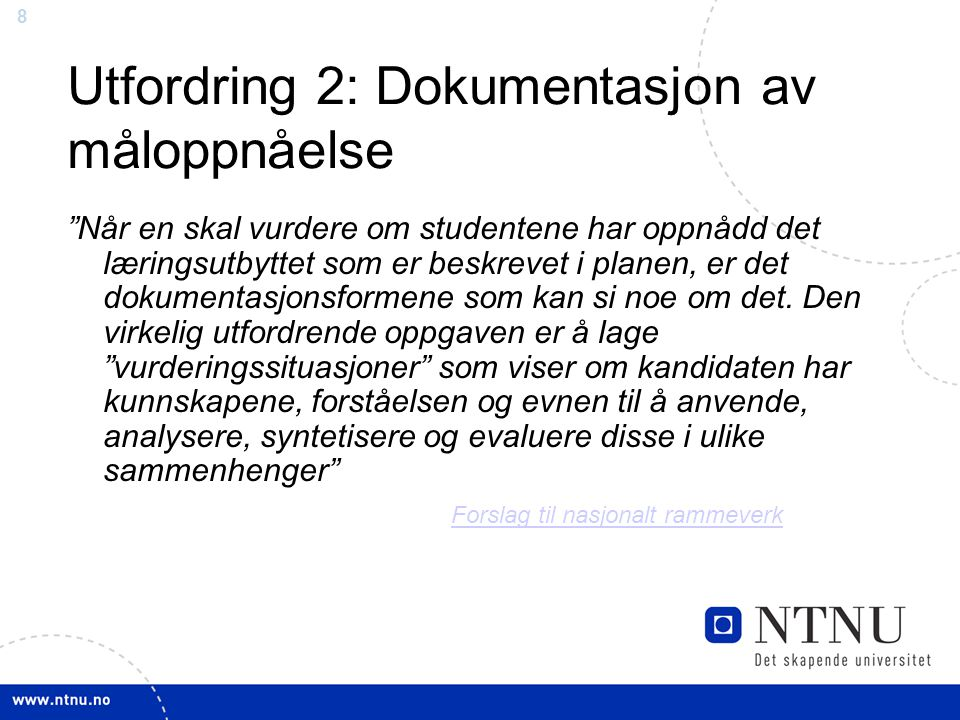 9 Utfordning 2: dokumentasjon… Taksonomier: http://www.youtube.com/watch?v=SfloUd3eO_M http://www.youtube.com/watch?v=SfloUd3eO_M