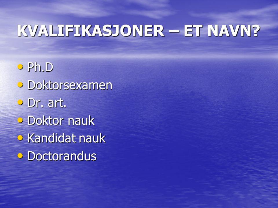 ANTALL STUDIEÅR?