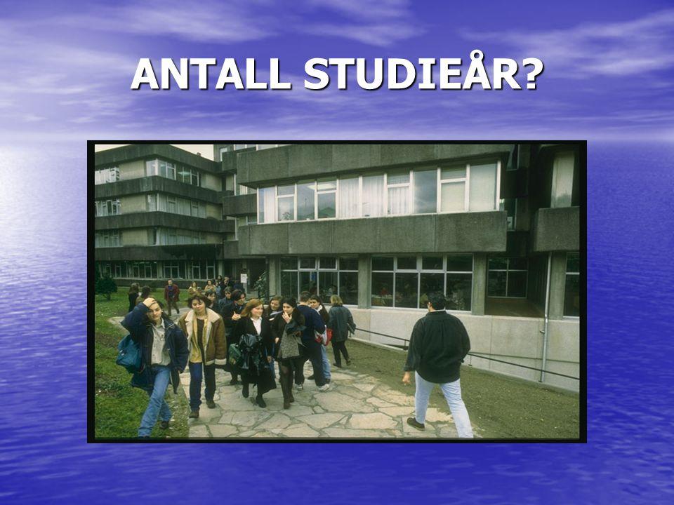 ANTALL STUDIEÅR