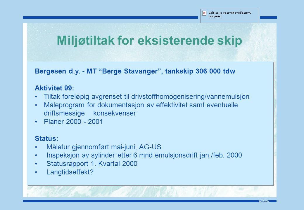 14/07/2014 Spesifikt brennstofforbruk før og etter motorombygging