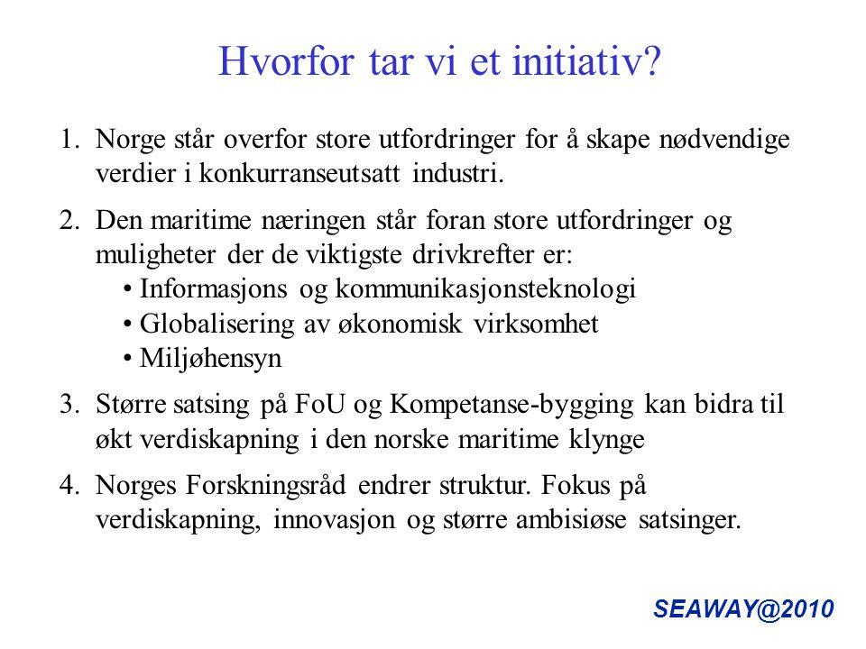 SEAWAY@2010 Hvorfor tar vi et initiativ.1.