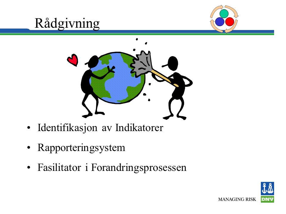Rådgivning Identifikasjon av Indikatorer Rapporteringsystem Fasilitator i Forandringsprosessen
