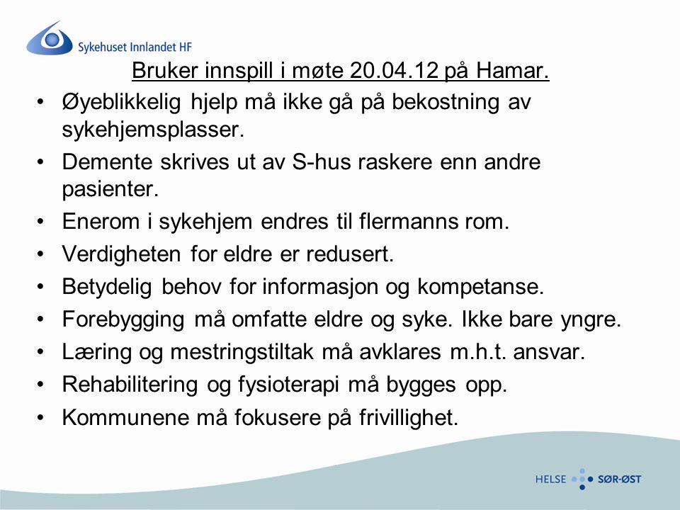 Scenario 2 – ett akuttsykehus i hvert fylke  Større grad av samling enn i Scenario 1, men oppfyller likevel ikke føringer fra HSØ og forventninger fra brukerne  Bør etablere nytt sykehus på Sanderud også i denne modellen  Det må treffes valg om akuttsykehus i Oppland (lang avstand til akuttsykehuset for Vest Oppland/ Gudbrandsdalen)