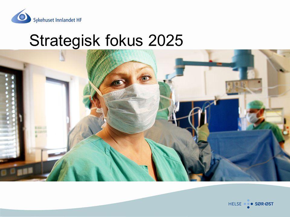 Kontinuerlig utredningsarbeid siden 2003 Prosjekt 2020 (2004 – 2006) Strategisk utviklingsplan 2009 – 2012 (2008) Strategisk fokus 2011 – 2014 (2010 - Premisser,mål, utfordringer – høring 1) Strategisk fokus 2025 (høring 2) Høringsfrist 14.05.