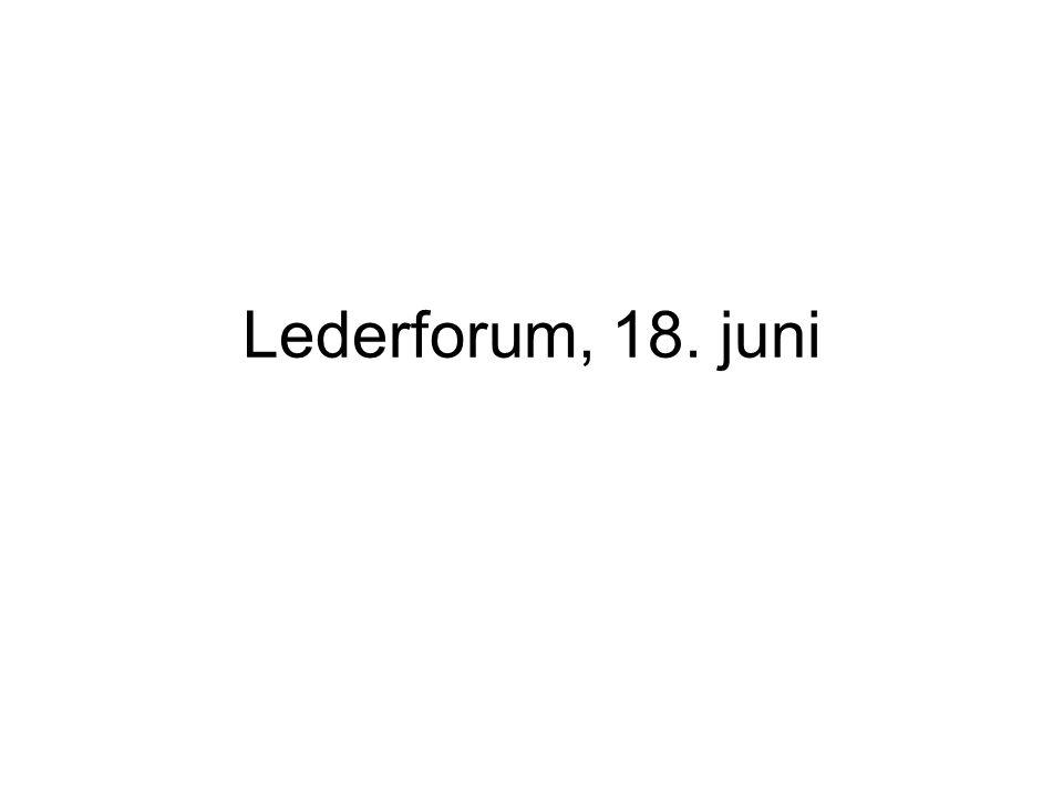 Lederforum, 18. juni