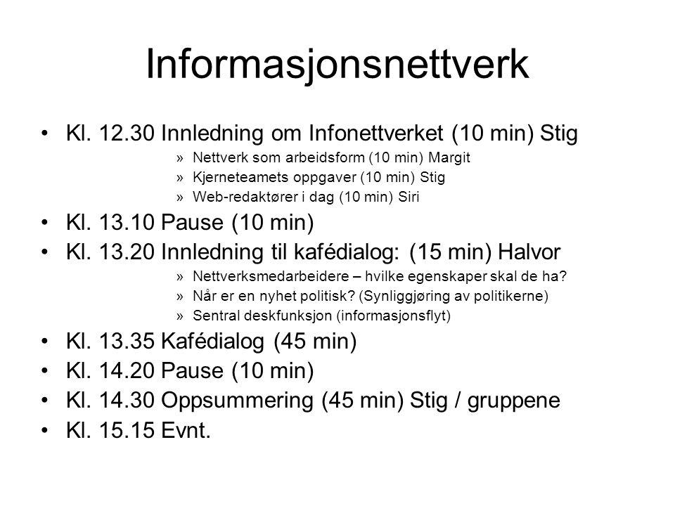 Informasjonsnettverk Kl.