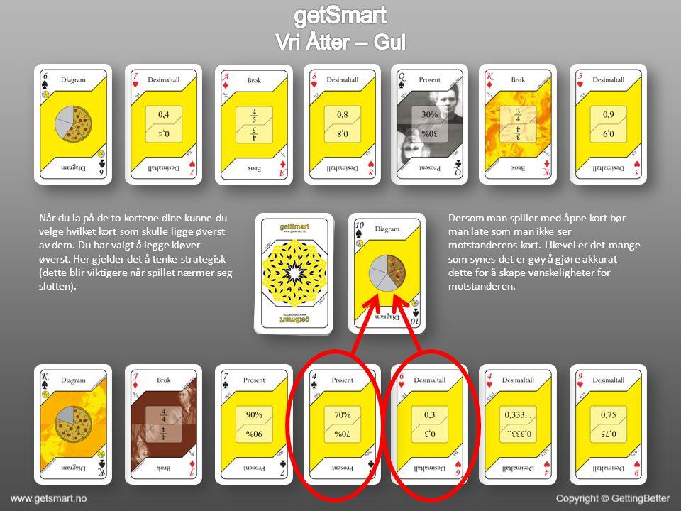 Når du la på de to kortene dine kunne du velge hvilket kort som skulle ligge øverst av dem.