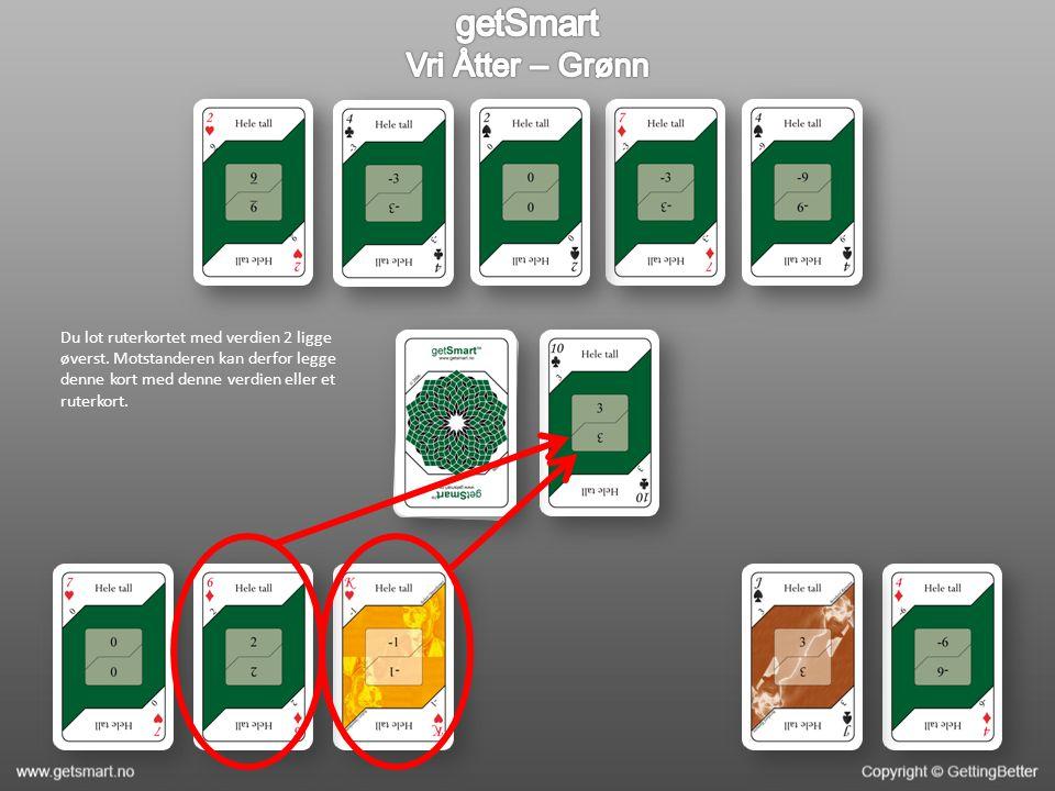 Motstanderen finner ut at det ikke er mulig å kombinere to kort og legger derfor ut ruterkortet sitt.