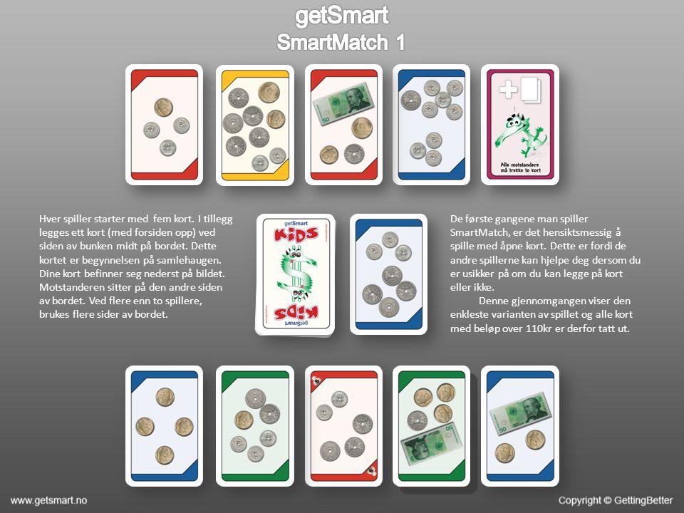 Reglene i SmartMatch 1 er som følger: Det er om å gjøre å bli kvitt kortene sine.
