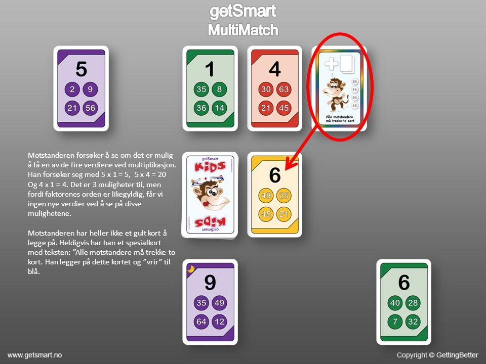 Motstanderen forsøker å se om det er mulig å få en av de fire verdiene ved multiplikasjon.