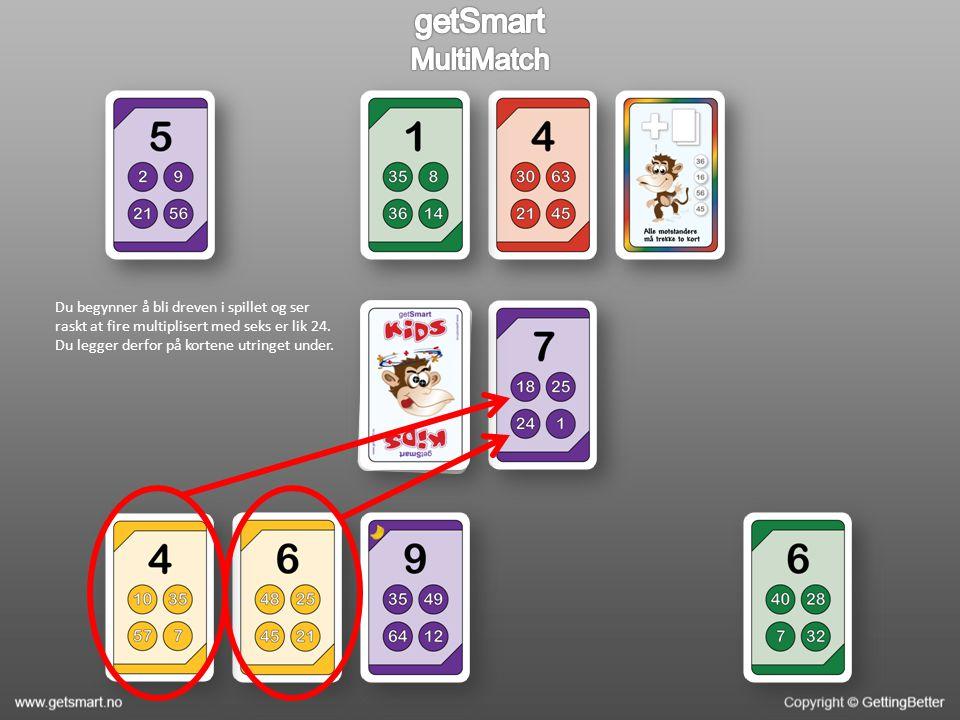 Du begynner å bli dreven i spillet og ser raskt at fire multiplisert med seks er lik 24.