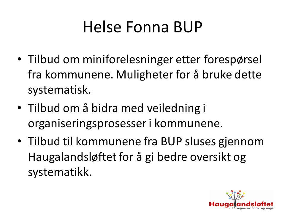Helse Fonna BUP Tilbud om miniforelesninger etter forespørsel fra kommunene.