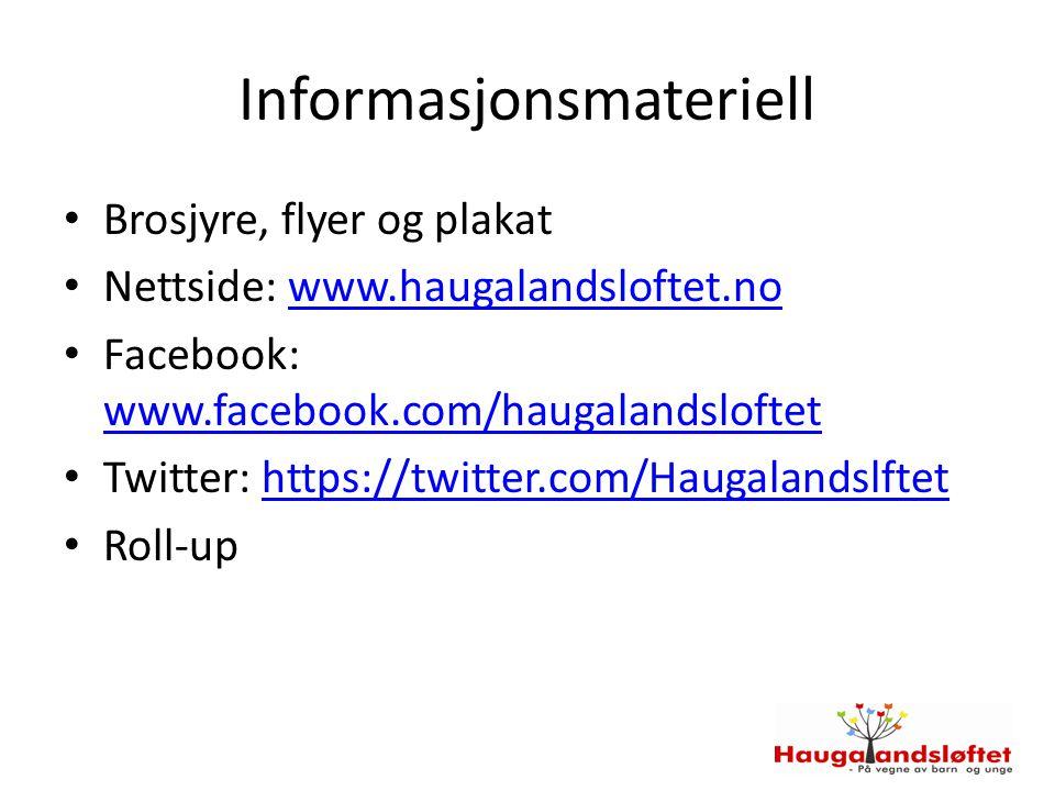 Informasjonsmateriell Brosjyre, flyer og plakat Nettside: www.haugalandsloftet.nowww.haugalandsloftet.no Facebook: www.facebook.com/haugalandsloftet w