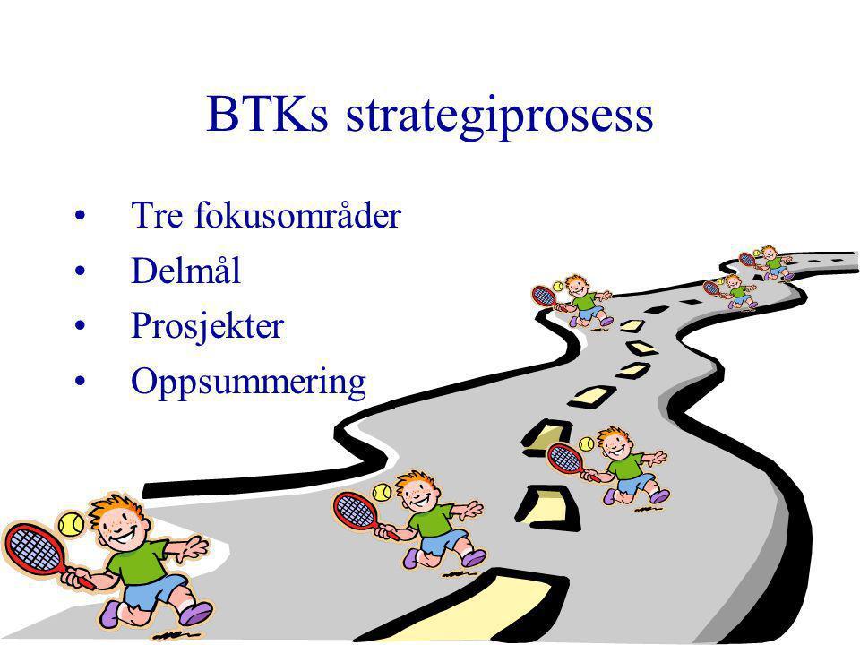 2 BTKs strategiprosess Tre fokusområder Delmål Prosjekter Oppsummering