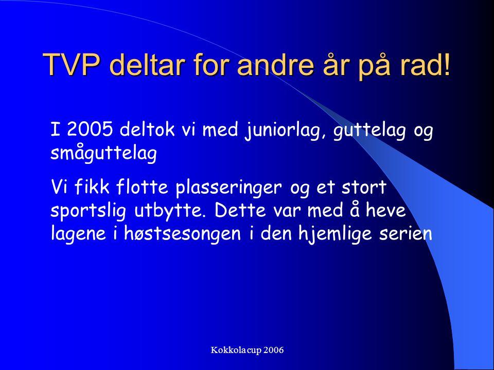 Kokkola cup 2006 EGENANDEL/LOTTERI Kr 1000,- pr.spiller betales inn på konto 4930.12.91395 Innen 20.juni Konvoluttlotteri, evt lotteri.