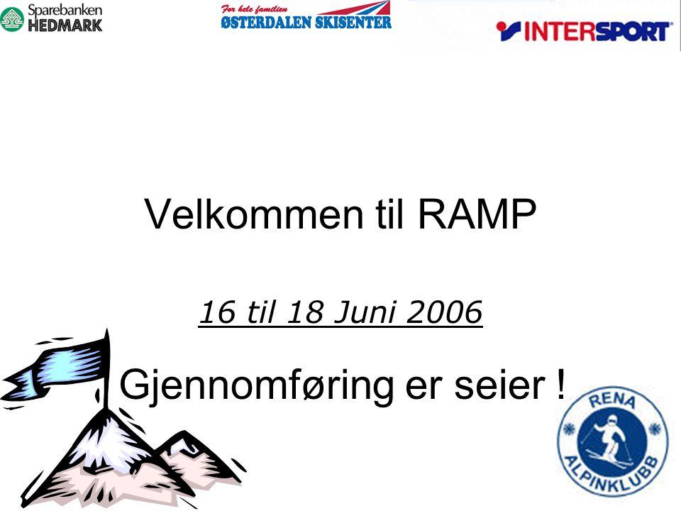 Velkommen til RAMP 16 til 18 Juni 2006 Gjennomføring er seier !