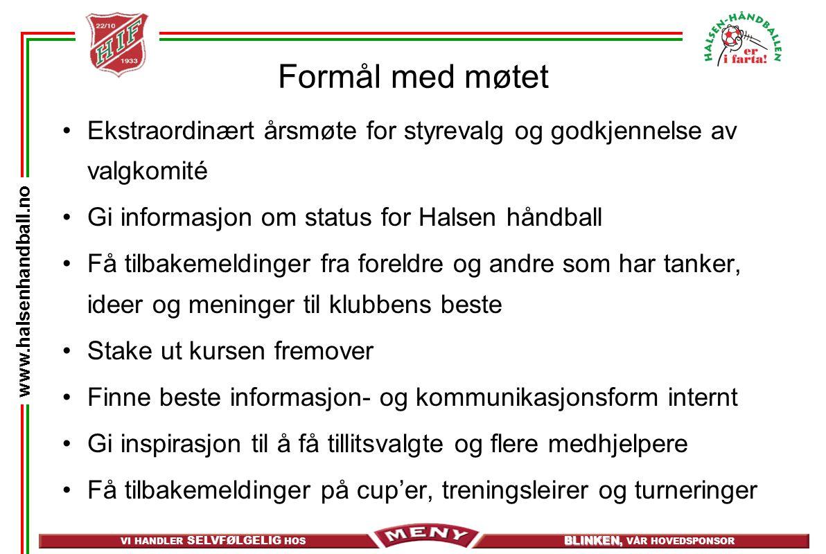 VI HANDLER SELVFØLGELIG HOS BLINKEN, BLINKEN, VÅR HOVEDSPONSOR www.halsenhandball.no Larvik Beach Cup 29.
